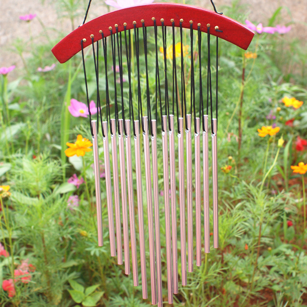 Russian Style 15 Tubes Wind Chimes For garden Yard Garden Outdoor Wind Chimes Wood Mental Hanging Garden Ornament Gifts colgante de madera para jardin