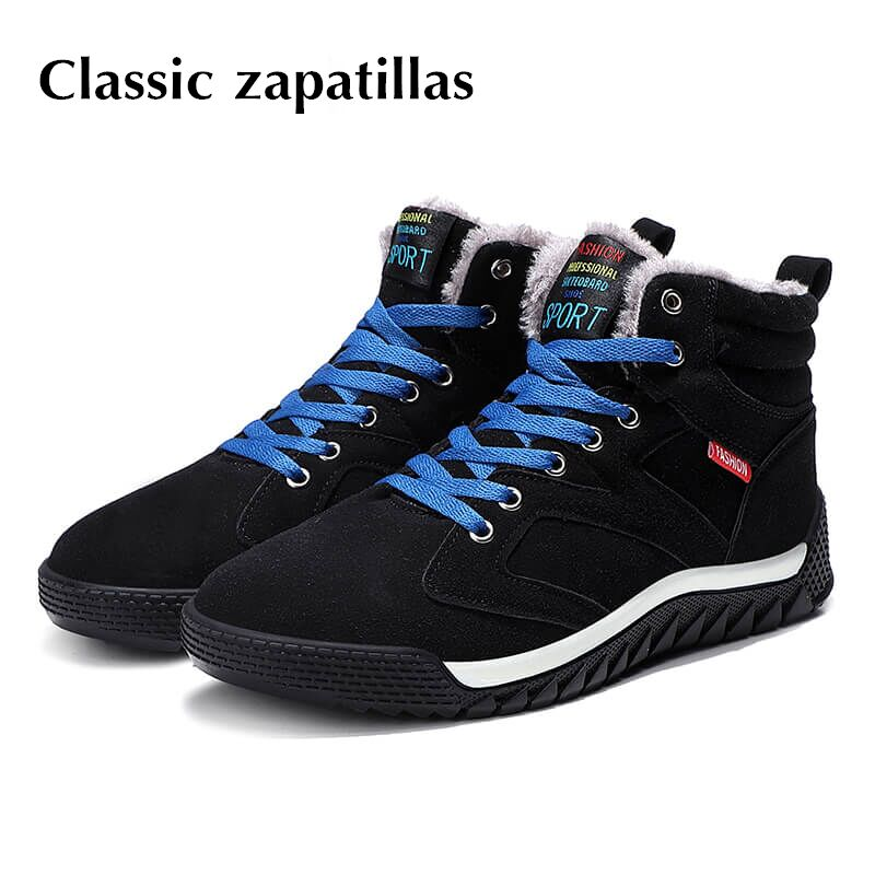 Hot Sale 2018 Fashion Men Winter Snow Boots Keep Warm Boots Plush Ankle Boot Snow Work Shoes Casual Men's Snow Boots Size 39-48