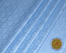 New Arrival Guinea Brocade Fabric 100 cotton Sky Blue Bazin Riche Getzner 2019 African Top Quality 10yard/lot