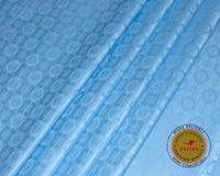 New Arrival Guinea Brocade Fabric 100 cotton Sky Blue Bazin Riche Getzner 2019 African Bazin Riche Fabric Top Quality 10yard/lot