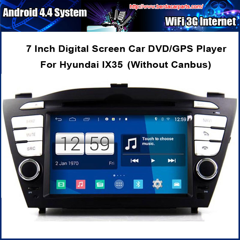 Android Car DVD Video Player For Hyundai IX35 TUCSON 2010 GPS Navigation Multi-touch Capacitive screen,1024*600 high resolution.