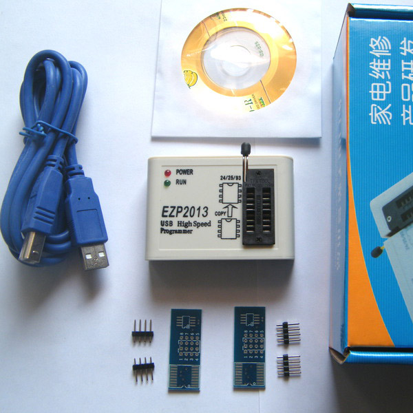US $17 18 7% OFF|EZP2013 USB2 0 Programmer SPI Support 24 25 93 EEPROM  Flash Bios Chip + Software-in Integrated Circuits from Electronic  Components &