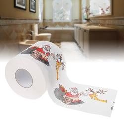 2 слоя Рождество Санта Клаус Олень Туалетная рулонная бумага ткани декор в гостиную Dec15