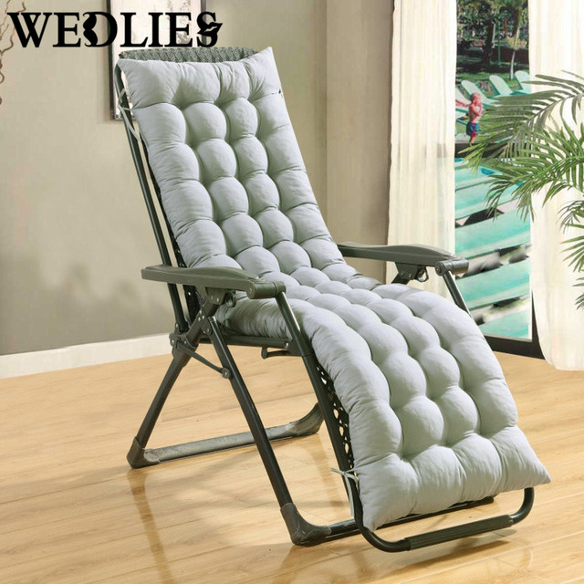 garden recliner chair covers stokke high second hand soft cotton seat pad lounge cover thicken replacement patio yard cushion 155x48x8cm 4 colors