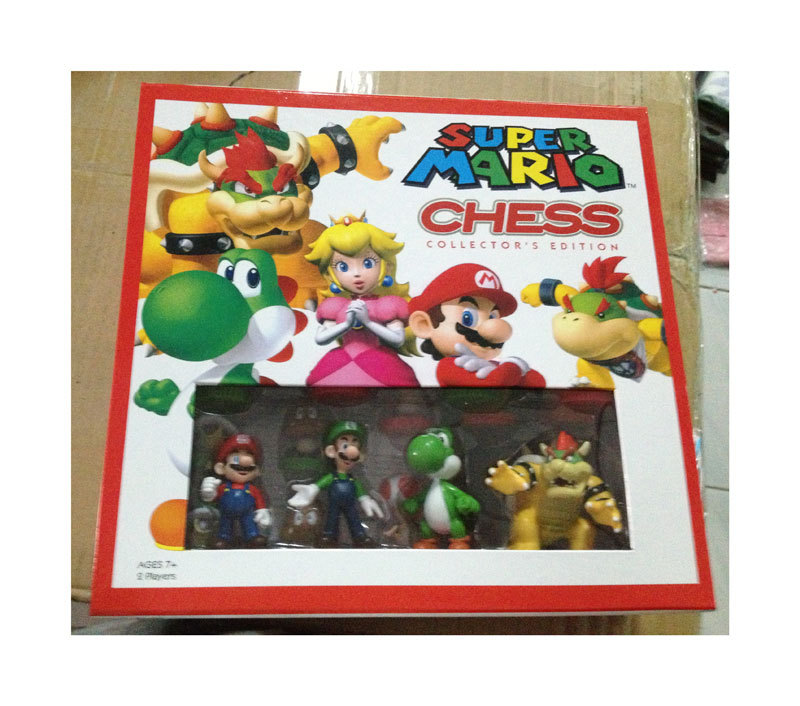 Free Shipping Super Mario Bros Chess PVC Action Figures Toys 32pcs/set SMFG078 lps pet shop toys rare black little cat blue eyes animal models patrulla canina action figures kids toys gift cat free shipping