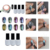 Negro 12 unids/set Cromo Pigmento Camaleón Espejo Polvo Del Brillo Del Arte Del Clavo Gel UV Para Nail Art Decoración