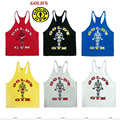 2016 gymvest bodybuilding clothing and fitness men tank tops goldsgym brand high quality 100% cotton undershirt large size