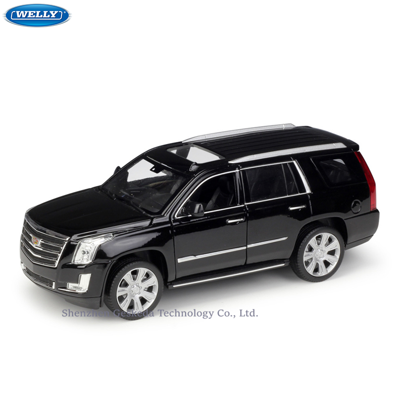 WELLY 1:24 Cadillac 2017 Escalade SUV Simulation alliage voiture modèle Collection jouets outils