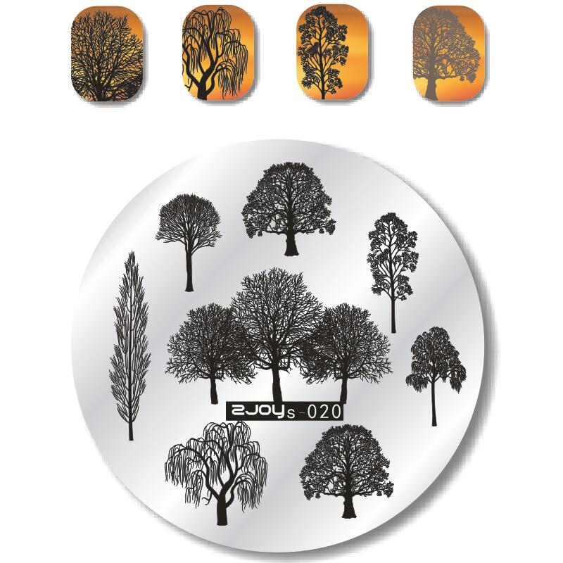 1PCStamping Plate Nail Art Stamping Plate French Tips Tree Butterfly geometry Animal DIY Manicure Nail Templates Stencils ZS 12pcs set nail art guide tips hollow stencils sticker french manicure template 3d vinyls decals form styling tool