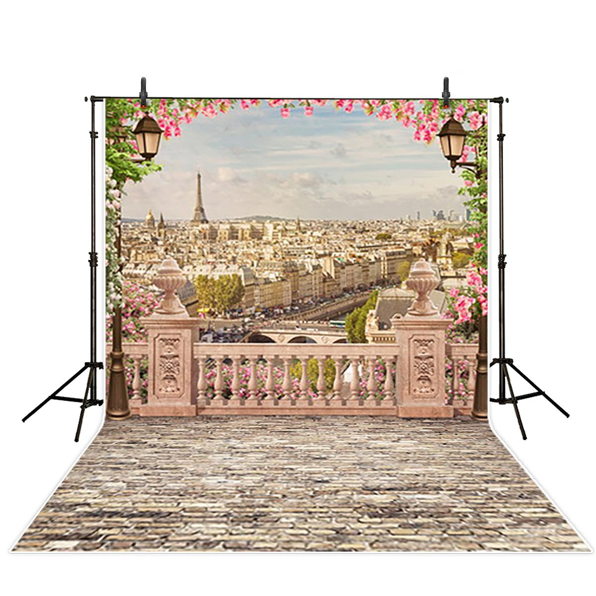 Paris Eiffel Tower City Landscape photo backdrop Vinyl cloth High quality Computer print party Photography Backgrounds