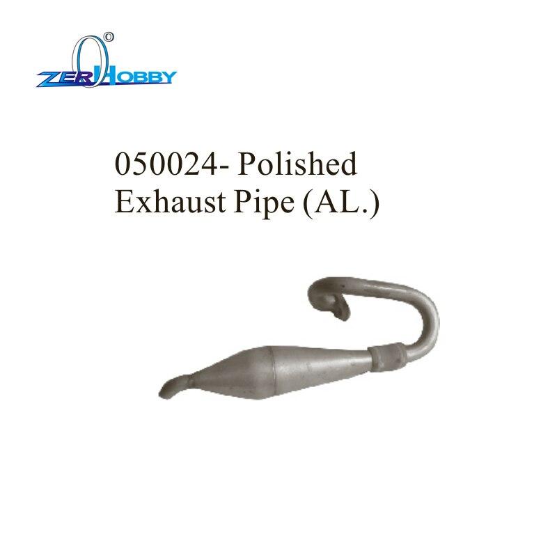 RC voiture pièces de rechange accessoires mise à niveau pièces de rechange en aluminium poli tuyau d'échappement pour HSP 1/5 camion à gaz 94050 (pièce n ° 050024)