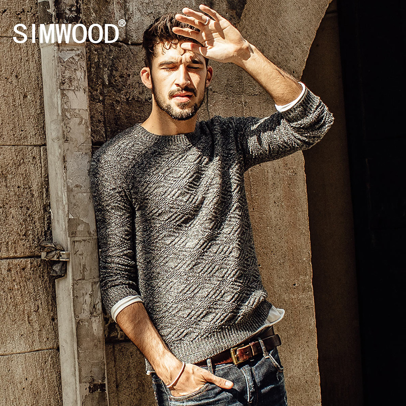 SIMWOOD New Autumn Winter 2016 New arrival fashion sweater men casual pullovers high quality brand clothing