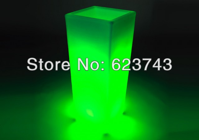 Glowing Lighting LED Flower Pot! Remote Control Color Changing RGB Led Flower Pot SL-LFP-3050F