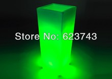 Glowing lighting LED flower pot! Remote controll color changing RGB led flower pot SL-LFP-3050F 17 5cm battery powered rechargeable rgb led lampwick lighting for flower pot furniture to garden or home