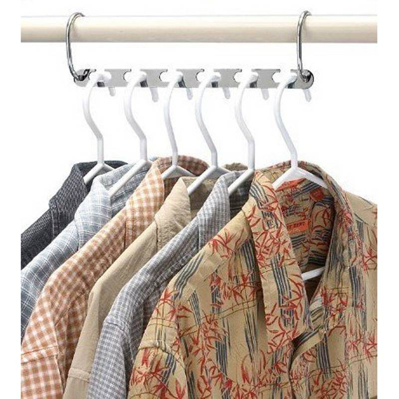 Home & Garden ... Home Storage & Organization ... 32603379949 ... 2 ... 4/6 Pcs Folding Shirts Coat Clothes Hanger Holders Save Space Non-slip Clothing Organizer Practical Racks Hangers for Clothes ...