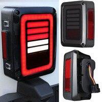 2 шт. автомобиля светодиодные задние тормоза кабеля поворотов Обратный светло красный/белый лампы для Jeep Wrangler JK 2007 2016 Американский Стандарт