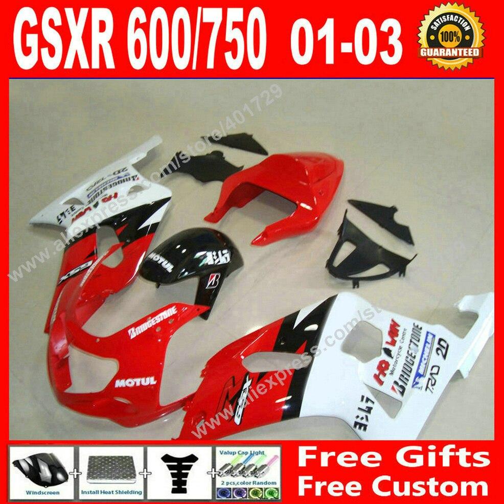 ̀ •́ Brand new Fairings for bodywork SUZUKI GSXR 600 750