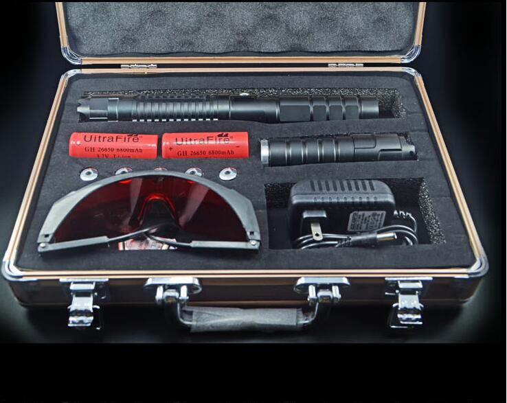 High Power Adjustable Focus Burning 450nm 100000m Blue Laser Pointer Pen Adjustable Focus Burning Paper range to 10000 meters