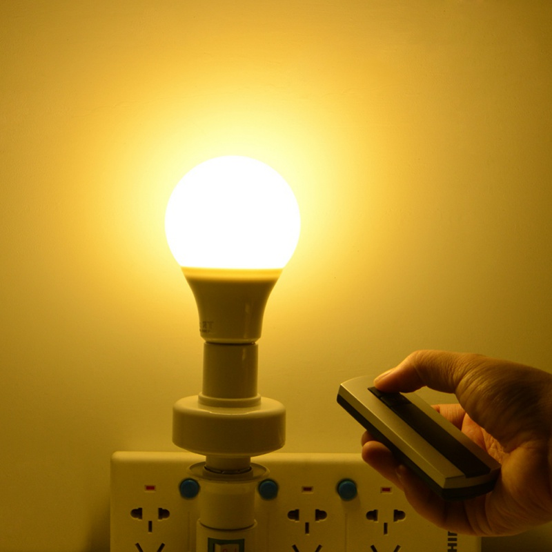 1 Pcs Durable E27 Screw Led Light Lamp Base Holder With Wireless Remote Control Switch Socket Bulb Save 50-70%