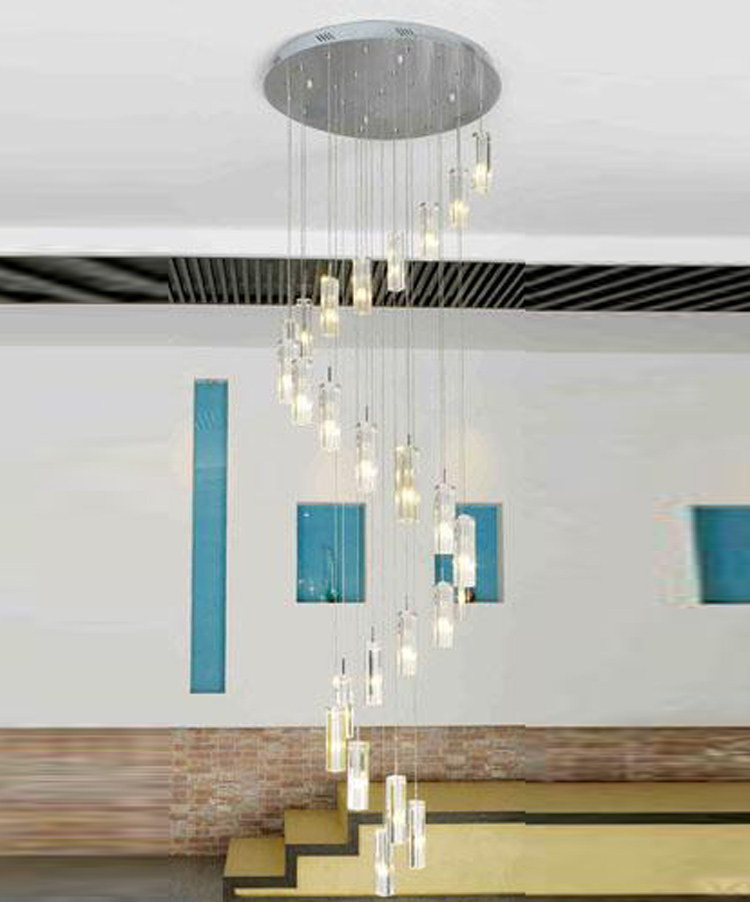 Aliexpress.com : Buy Long G4 Stair Lighting Pendant Crystal Chandelier Lamp  Large Round LED Chandelier Stairway Light Lustres De Cristal Kroonluchter  From ...