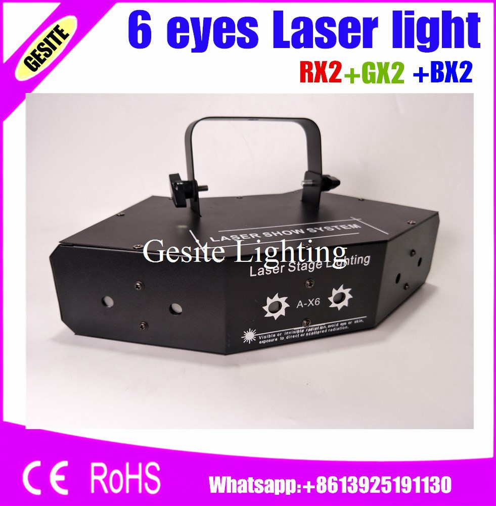 6 eyes laster light stage light Wedding, Disco, Dance halls, Bars, KTV, Family Party rgb laser professional
