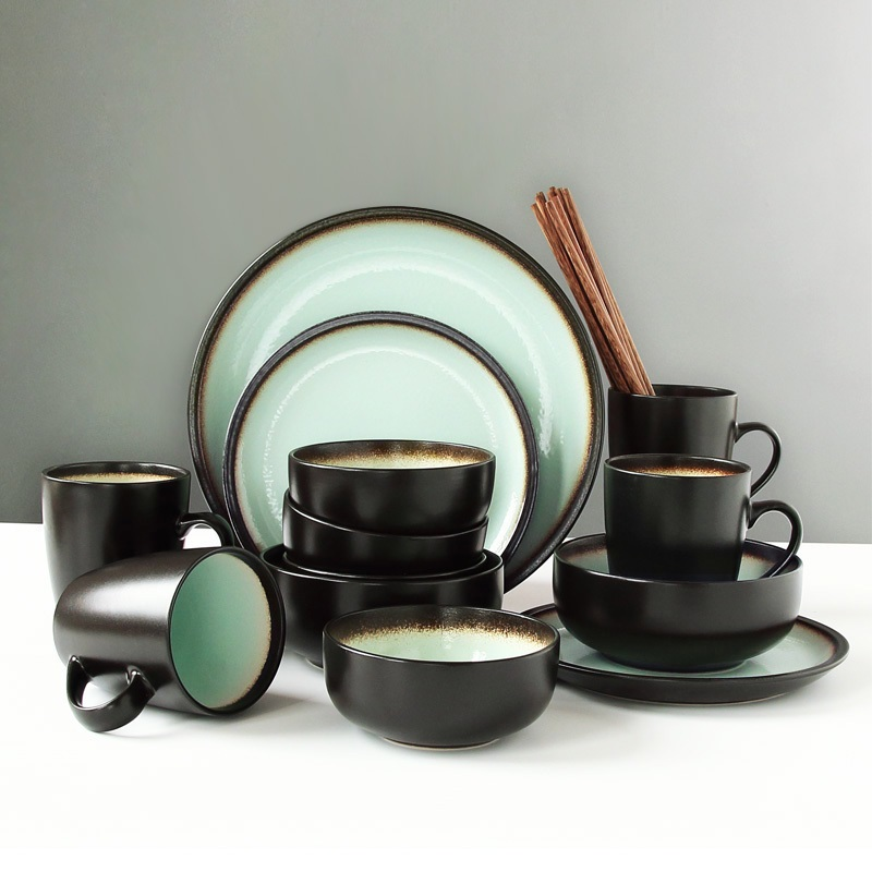 Nordic 4 people eat antique dinnerware sets personalized bowl dishes  creative rice noodles bowls, pottery dishesNordic 4 people eat antique dinnerware sets personalized bowl dishes  creative rice noodles bowls, pottery dishes