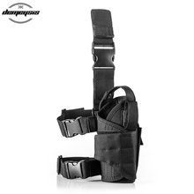 Adjustable Tactical Nylon Gun Holster Leg Pistol Holster Pouch hunting gun holster pouch for GLOCK,M1911,BERETTA,PPK