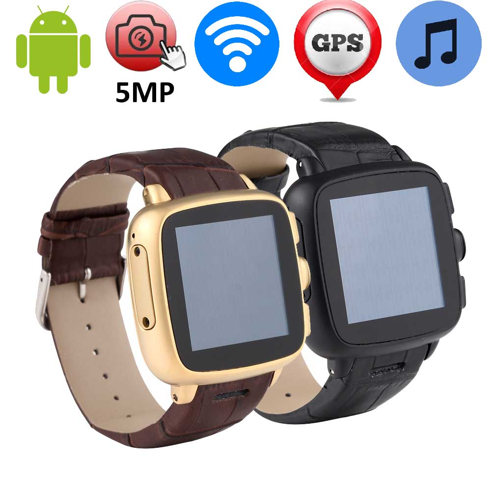 Hot 5MP Camera Smart Watch Support 2G/3G Wifi/GPS/GSM/WCDMA SIM TF Card Android Smartwatch MP3 Intelligent Sport Clock 512MB+4GB