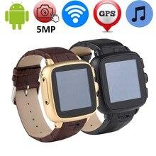 Heißer 5MP Kamera Smart Uhr Unterstützung 2G/3G Wifi/GPS/GSM/WCDMA SIM TF karte Android Smartwatch MP3 Intelligente Sport Uhr 512 MB + 4 GB