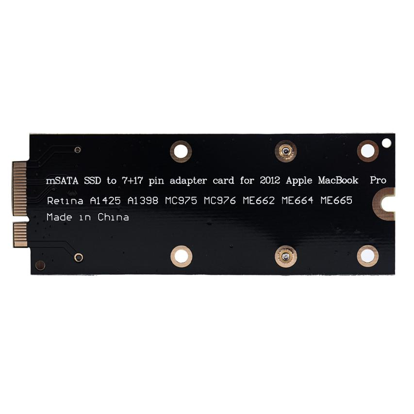 mSATA Adapter As SSD For MacBook Pro Retina 2012 IMAC A1398 MC975 MC976  MOSUNX Futural Digital  Hot Drop Shipping F35 аксессуар apple 60w magsafe2 power adapter for macbook pro md565z a