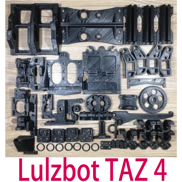 New!!! Lulzbot Taz 4  3D Printer Updated Printed Plastic Part Premium KIT ABS Part Free Shipping funssor reprap taz 5 taz 4 lulzbot taz 3d printer 24v silicone heater 360w 24v smooth silicone heater for heated bed buildplate