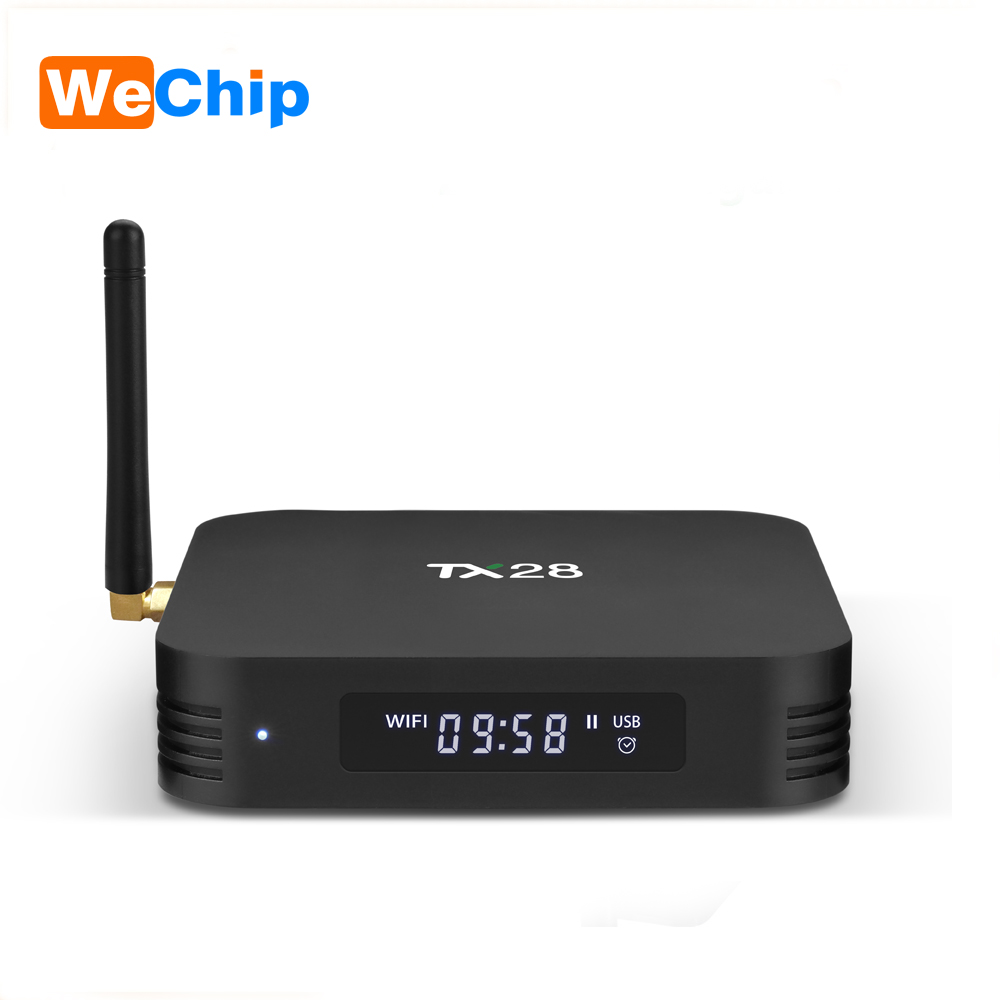 TX28 4GB/32GB 4K Android 7.1 TV Box Rockchip RK3328 Quad Core Dual Wifi BT4.1 H.265 HDR10 TX28 Smart TV Box pk TX9 Pro tv box