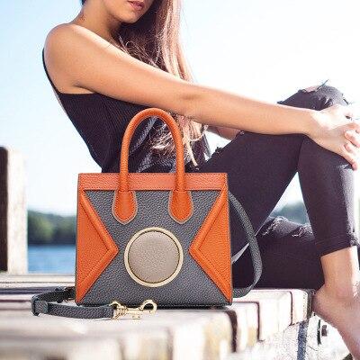 2017 Bella Ragazza Pelle Bovina Piccola Crossbody Bag Donna Borse Messenger Cuoio Genuino Della Signora Borsa delle Donne Famose di Marca Borsa A Tracolla