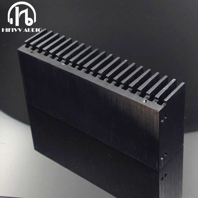 Hifivv audio DIY Cooler Aluminum Heatsink Grille Shape Radiator Heat Sink Chip 155*67*40mm IC Power Transistor