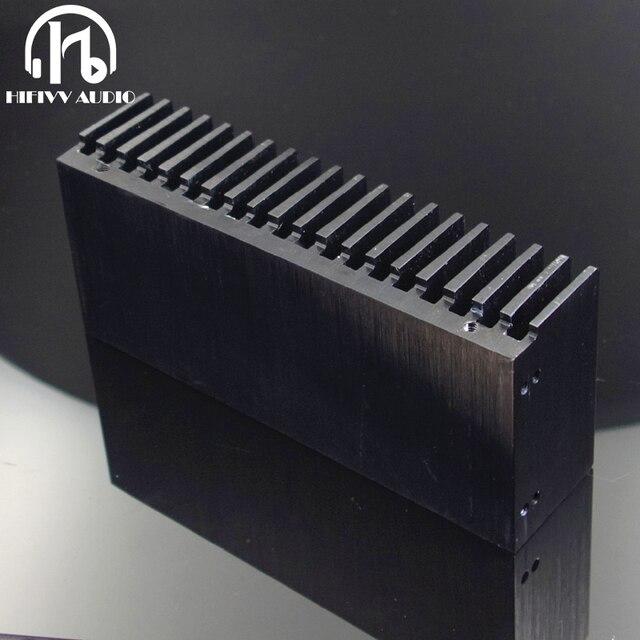 Hifivv الصوت لتقوم بها بنفسك برودة مبادل حراري من الألومنيوم مصبغة شكل المبرد بالوعة الحرارة رقاقة 155*67*40 مللي متر IC السلطة الترانزستور