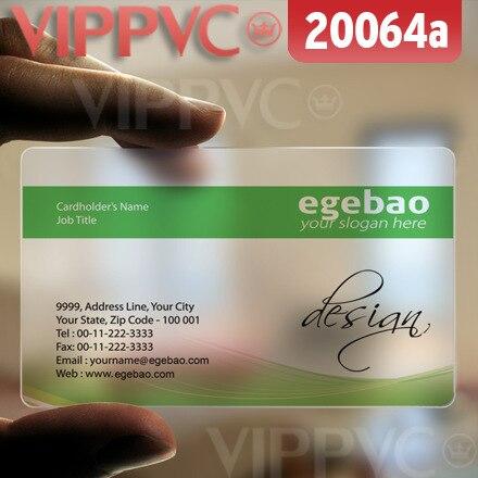 20064 идей для визитных карточек-матовый Faces прозрачные карты Тонкий 0.36 мм