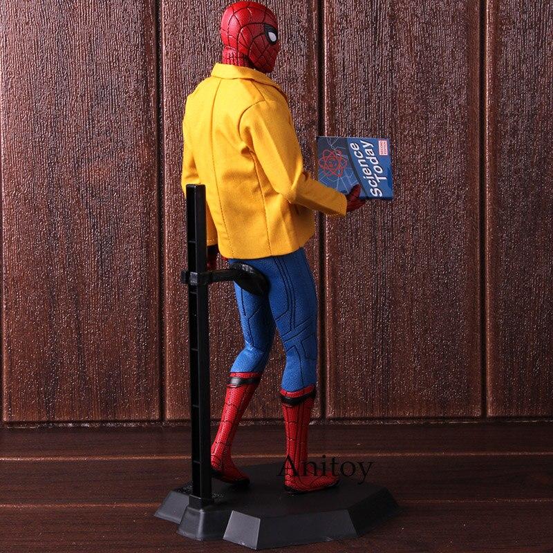 Image 5 - Figura de ação brinquedos loucos spiderman regresso a casa aranha homem de luxo versão 1/6th escala collectible figura modelo brinquedoFiguras de ação   -