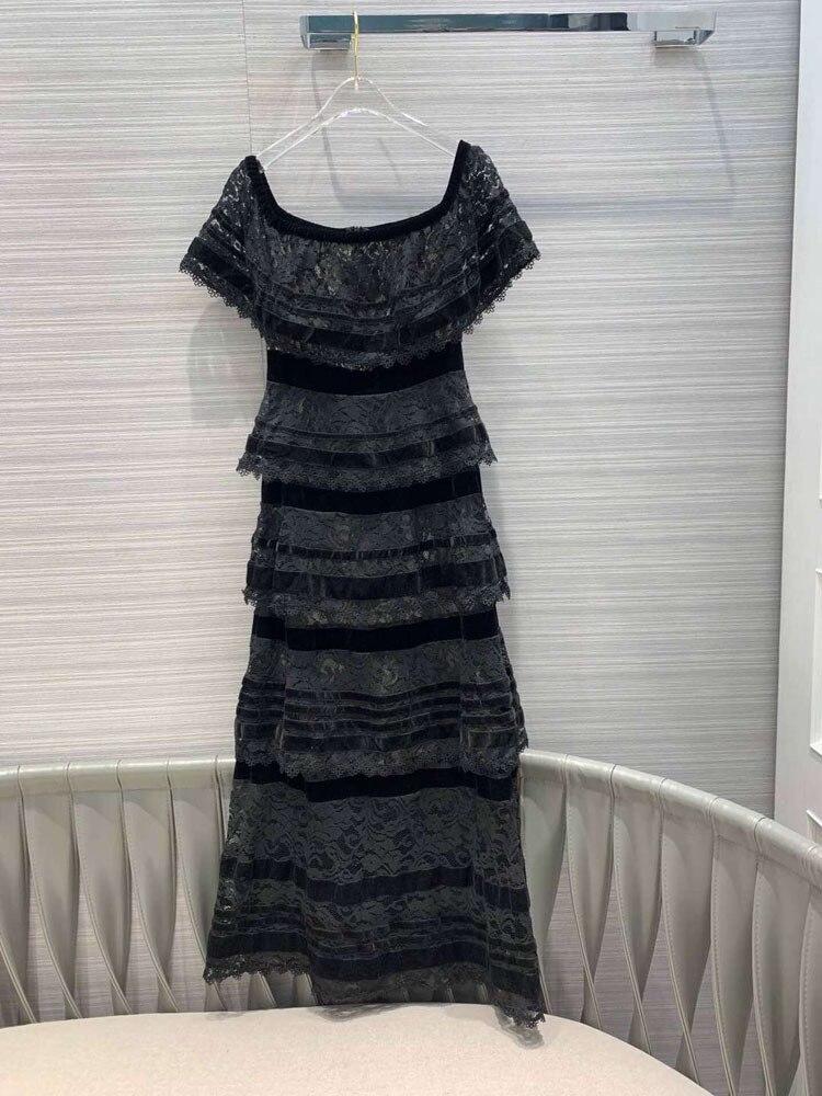 여자 패션 2019 패치 워크 발목 길이 드레스 at190129-에서드레스부터 여성 의류 의  그룹 2