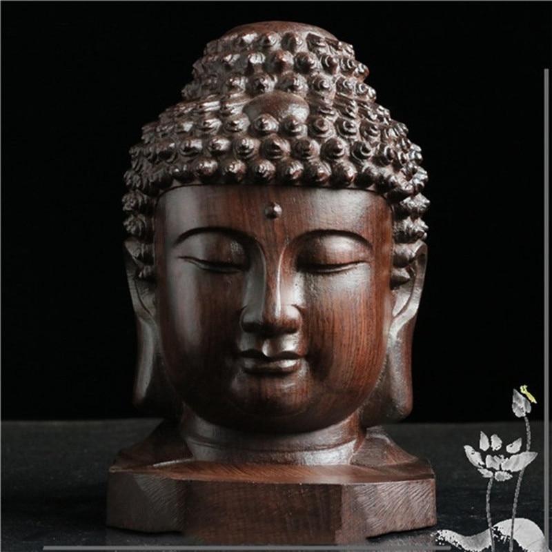 Buddha Buddista Buddismo Testa Statue di Arte Scultura In Legno Art & Craft Asiatico Buddista Cinese Decorazione R229Buddha Buddista Buddismo Testa Statue di Arte Scultura In Legno Art & Craft Asiatico Buddista Cinese Decorazione R229