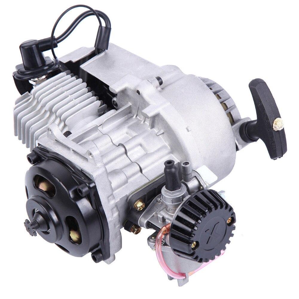 (Корабль из ЕС) 49CC 2 х тактный двигатель старт тяги мини передачи двигателя мотоцикла подходит Quad карманный мини байк скутера ATV багги