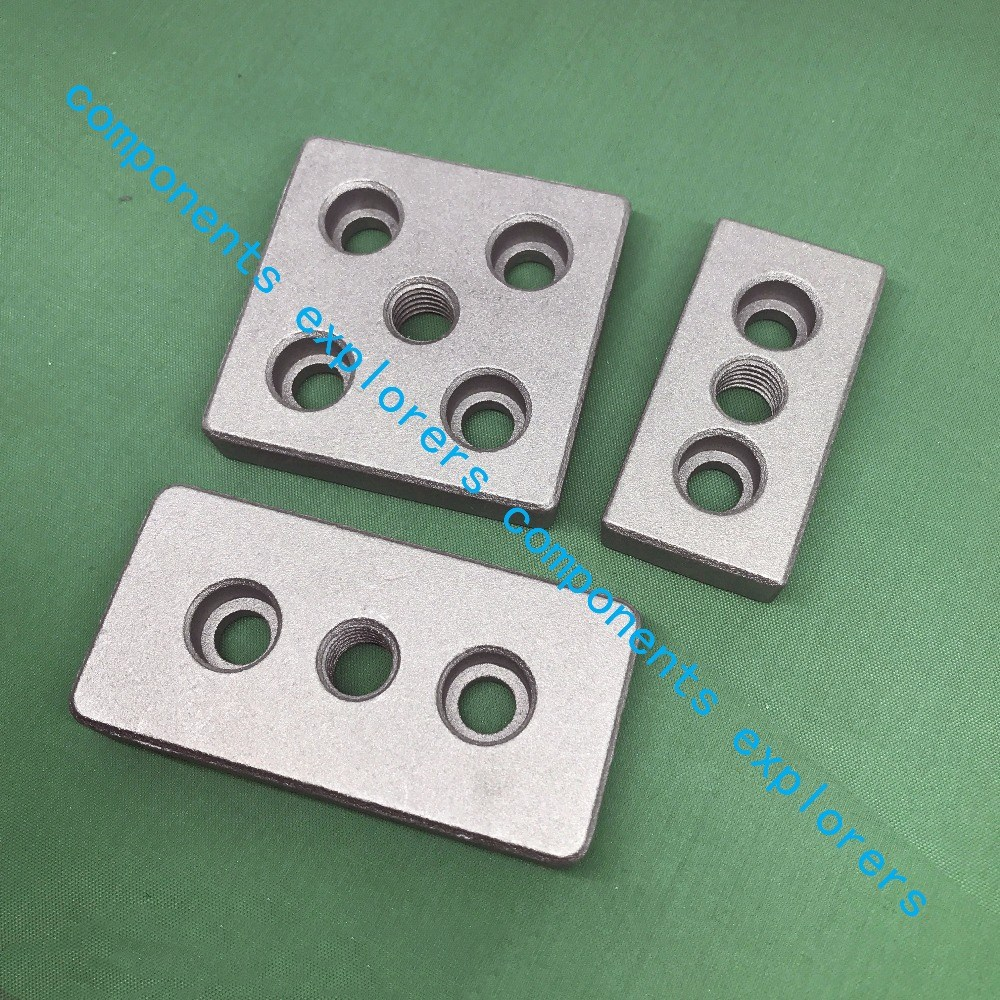 End Connection Plate 3060 4080 6060 8080 Aluminum Face Plate Corner Bracket Adjust The Feet To Support The Bottom Plate