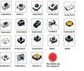 10 unids x 19 Modelos A Través Del Agujero y SMD Tact táctiles interruptores de botón pulsador táctil Interruptor de luz paquete de Muestras