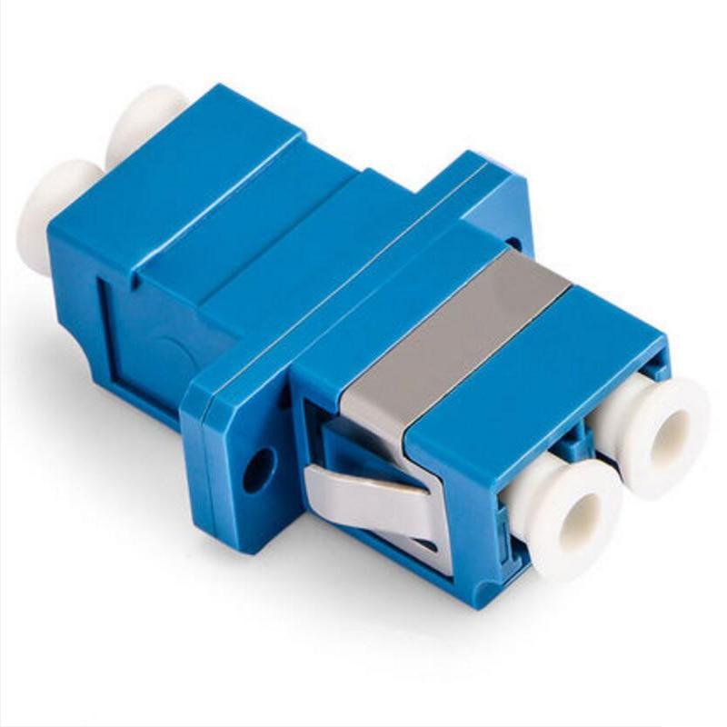Best Price 50pcs LC UPC Fiber Optic Adapter Singlemode Duplex LC Fiber Optic Coupler  Fiber Flange LC UPC Duplex Fiber Connector