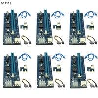 6pcs 006C USB3 0 PCI E Express 1X 4x 8x 16x Extender Riser Card Adapter SATA