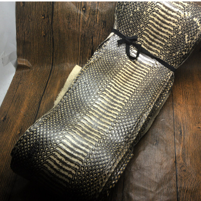High Grade Genuine Snake Skin Nature Leather Whole Piece Craft Material For Wallet Handbag Decoration