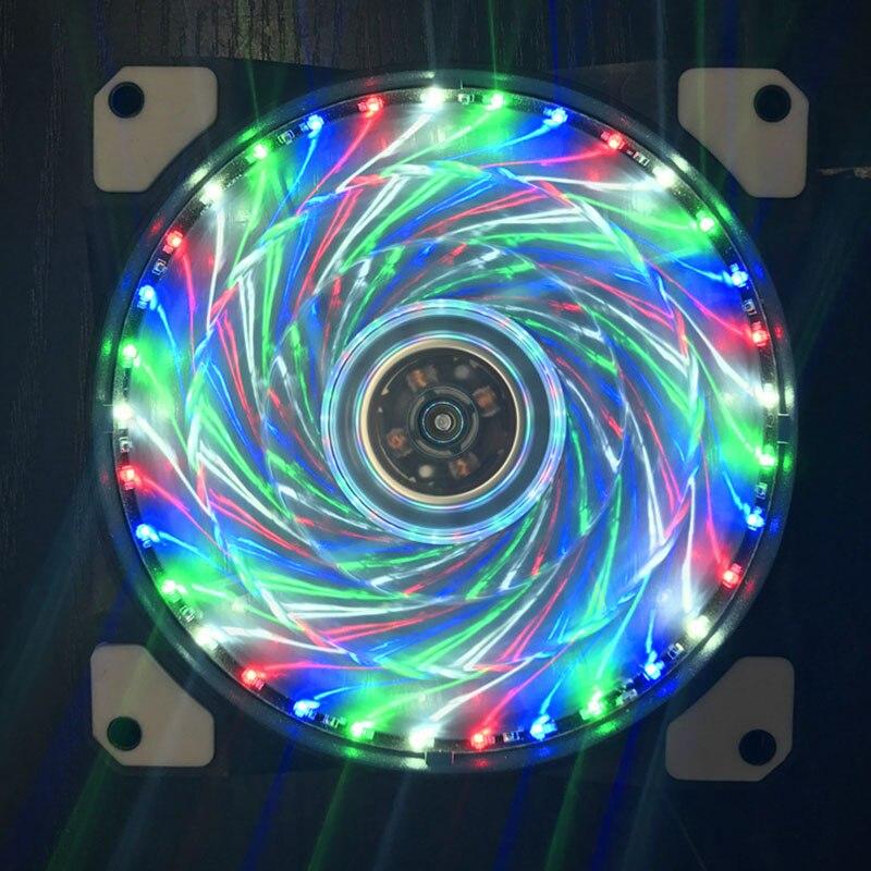 120mm Pc Computer 16db Ultra Silent 33 Leds Fall Fan Kühlkörper Kühler W/anti-vibrations-gummi 12 Cm Fan 12vdc 3 P Ide 4pin Lange Lebensdauer