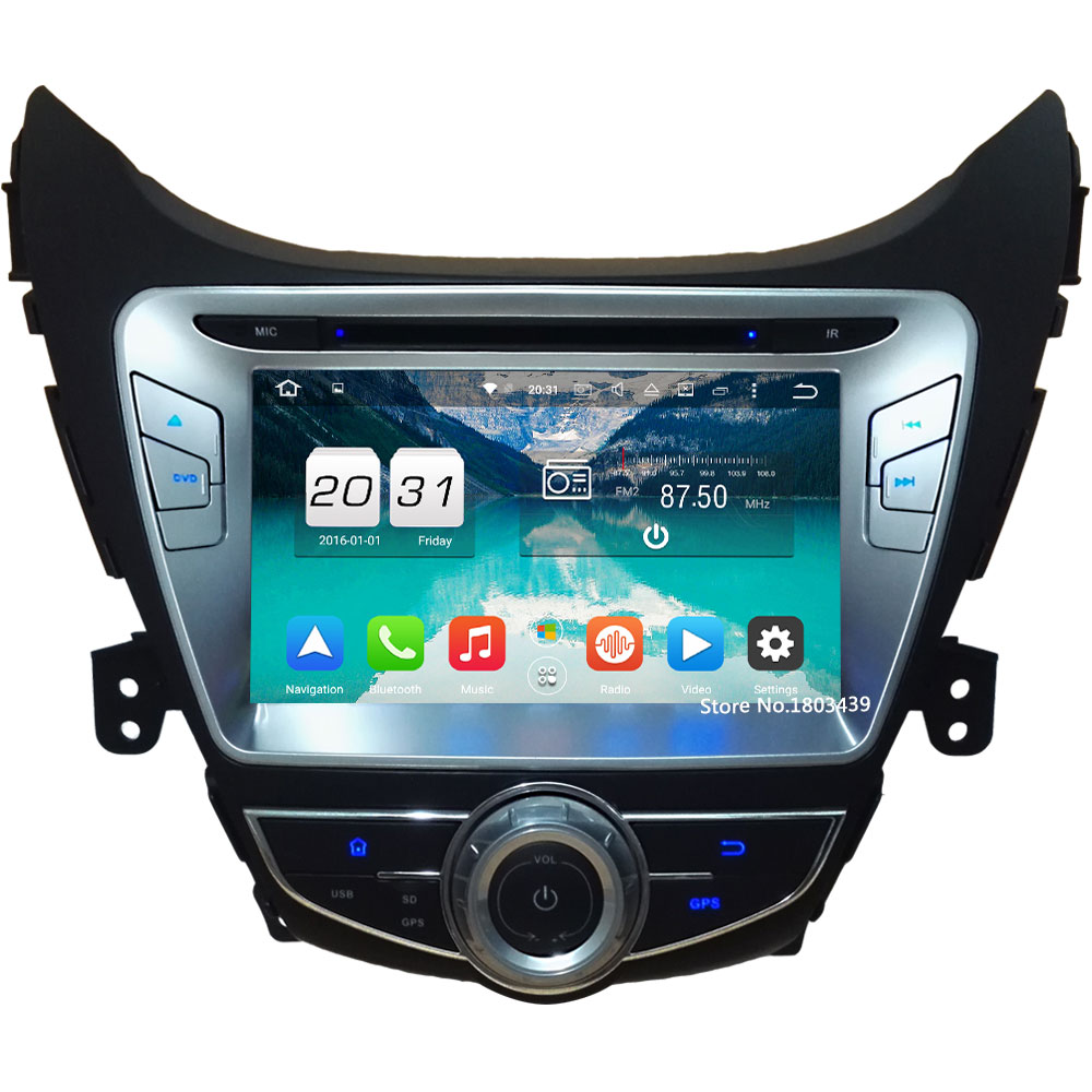 8 4GB RAM 32GB ROM Android 6.0 Octa Core PX5 3G/4G Car DVD Multimedia Player Radio GPS For Hyundai Elantra Avante I35 2011-2013 ветровики korea hyundai elantra 2013 avante md 2013