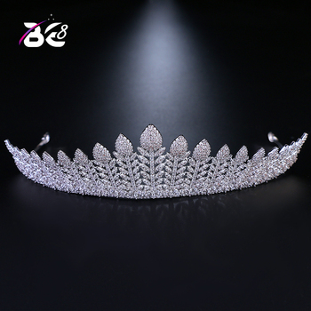 Be 8 New 2018 Cubic Zirconia Wedding Crown Bridal Head Jewelry Woman Tiara Hair Accessories Engagement Gifts H047