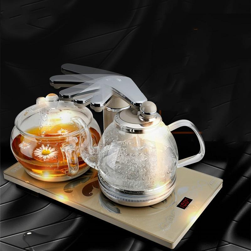 Умный термостатический Электрический чайник стекла bubble tea плита анти защита от сухого