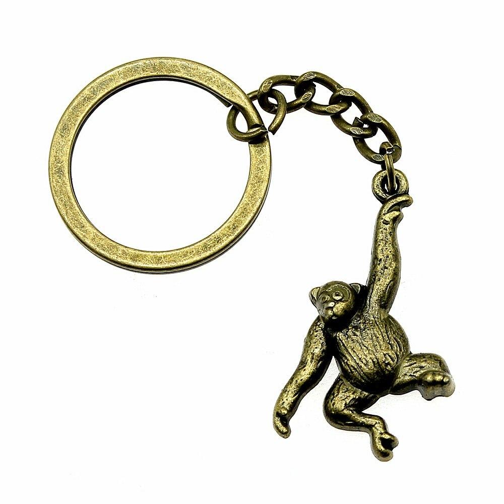 Gepäck & Taschen 1 Stück Metall Keychain Affe Zubehör Schmuck Geschenke Für Kinder 32x27mm Anhänger Antike Bronze Moderate Kosten